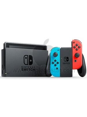 کنسول بازی نینتندو سوئیچ Nintendo Switch with Neon Blue and Neon Red Joy‑Con